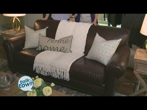 The Decorologist Kristie Barnett Showed Ways to Brighten Up a Dark Sofa