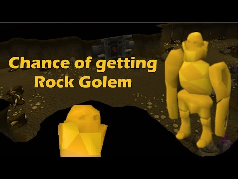 Old School RuneScape: Whats your chance to get a Rock golem [Below RS]
