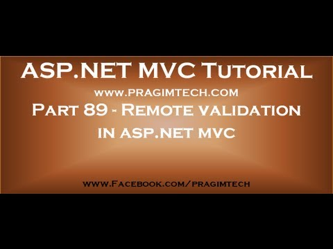Part 89   Remote validation in asp net mvc