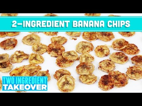 2 Ingredient Baked Banana Chips! Two Ingredient Takeover - Mind Over Munch
