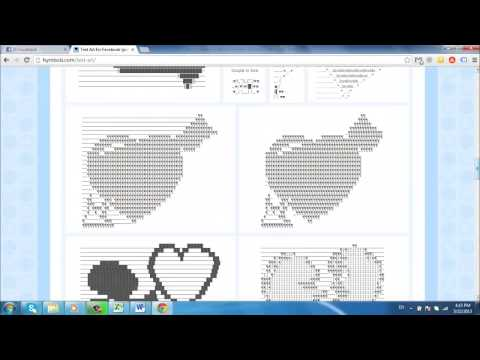 How to Make Facebook Symbols Art