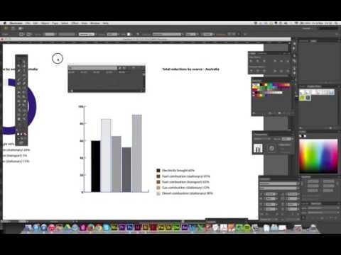 Pie charts using Adobe Illustrator