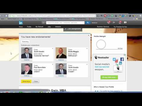 LinkedIn Profile Training - What to Do with Endorsements