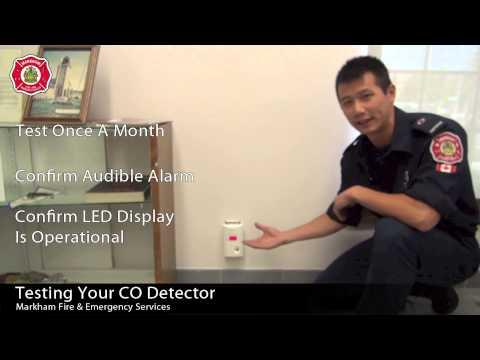 Testing Your Carbon Monoxide Detector