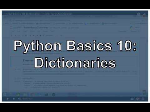 Python Dictionaries and Dictionary Manipulation