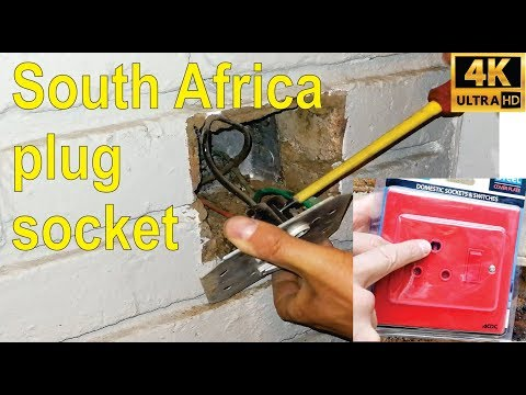 How to install / replace a South African plug socket - Step by step.