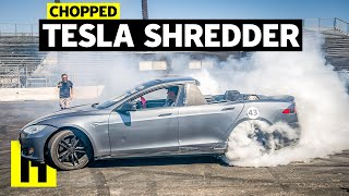 Download Tesla Model S ″Pickup″ Vaporizes Tires Video