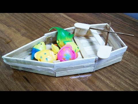 DIY Boat made out of Popsicle Sticks - Handmade - DIY Crafts - Miniature