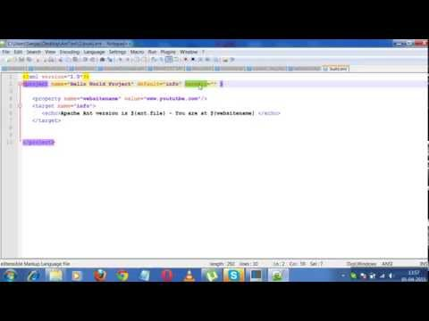 Ant Tutorials 1-Build.xml contd. Properties ,System var and Targets