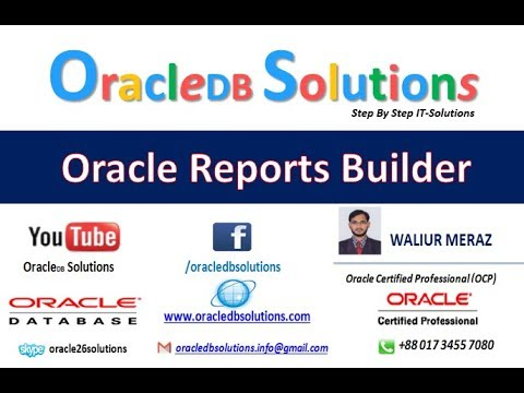 Oracle Reports | How to  Develop Reports With System Parameters | Bangla R-16