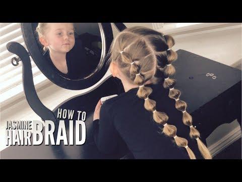*Hair Tutorial* How to do the Princess Jasmine Hair Braid on Little Girls!