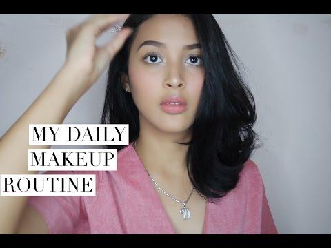 Daily Makeup Routine / Makeup Untuk Hangout | Delmira Anggita