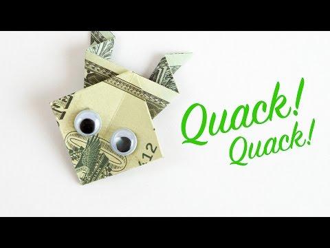 Money Origami FROG - Dollar Bill Folding TUTORIAL in 4K