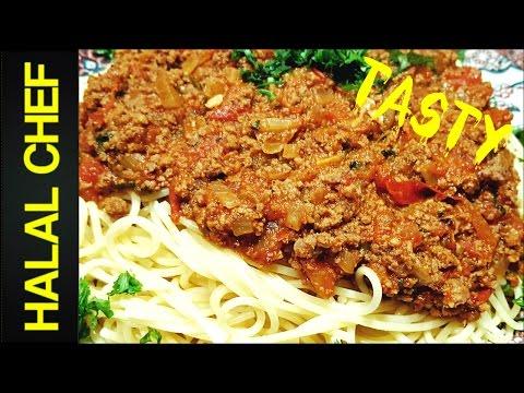 HOW TO MAKE SPAGHETTI BOLOGNESE - EASY ITALIAN RECIPE - RAGU RECIPE - Halal Chef