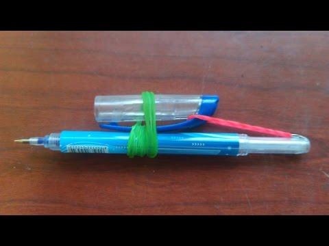 DIY pen gun using only pen and rubber band