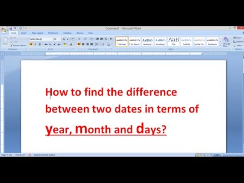 How to find the difference between two dates in excel in terms of year, month and days