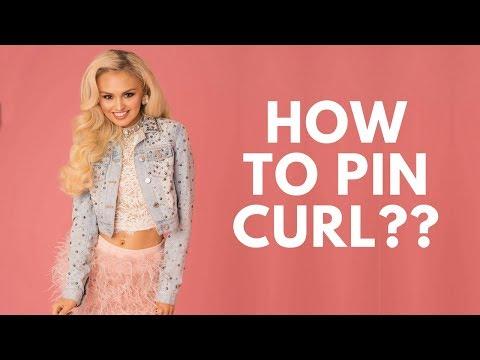 How to Pin Curl hair!?! - Hair curling tutorial  - I BURN MYSELF!!😂😂