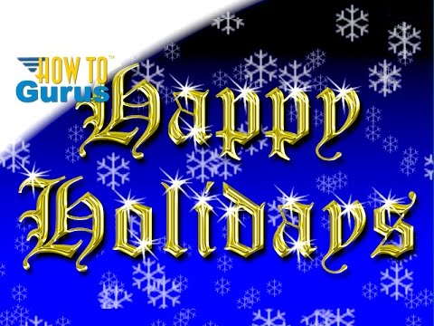 How To Make a Quick Gold Text Holiday Card in Photoshop Elements 2018 15 14 13 12 Tutorial