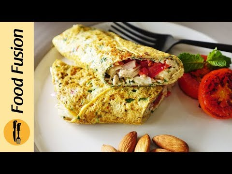 Healthy Cottage Cheese Omelette 2 ways - Recipe by Food Fusion