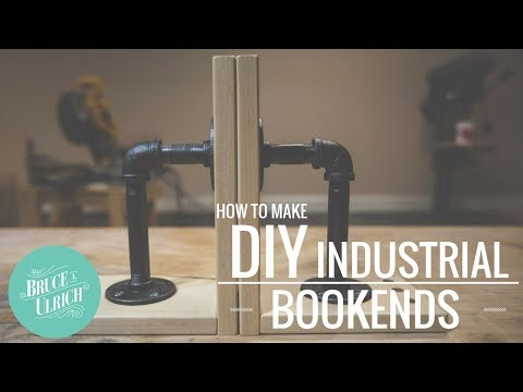 DIY Industrial Bookends