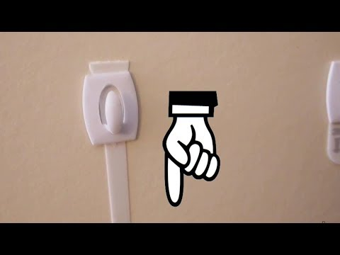 Correct way to take off 3M Command Wall Hooks - pull downwards