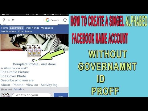 How to create single alphabet name facebook account || Latest Trick 2018 ||