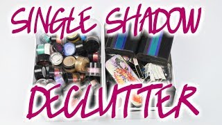 Makeup Declutter - Single Eyeshadows & Pigments