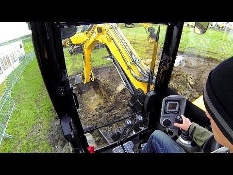 JCB 86C-1 eco Excavator With Tiltrotator Test Drive: Cab View