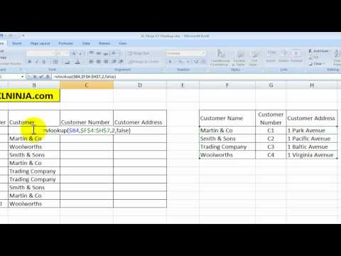 How to use VLOOKUP in Excel Tutorial