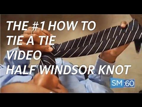 Tie A Tie (Overhead Camera Angle) - Half Windsor Knot (Ep 021)