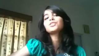 Cute Girl SInging Song With Guitar