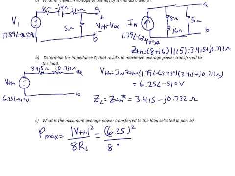 ES203 Lec 10-2: Complex power calculations, maximum power transfer