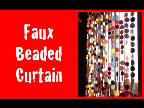 DIY: Faux Beaded Curtains ♡ Theeasydiy #HalloweenHorror