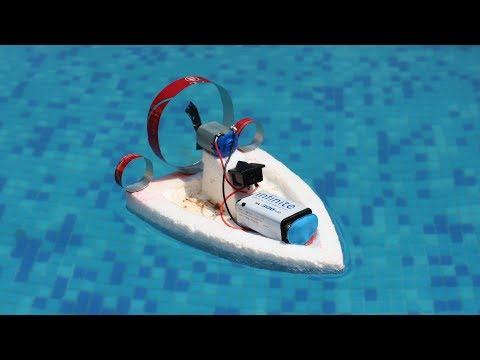 How to make an Electric Boat - Air boat