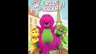 Opening & Closing To Barney:What A World We Share 1999 VHS