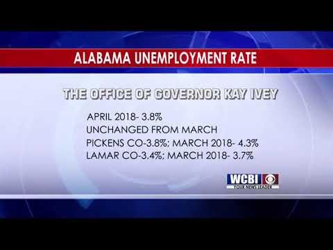 Alabama Unemployment Rate  5/18/18