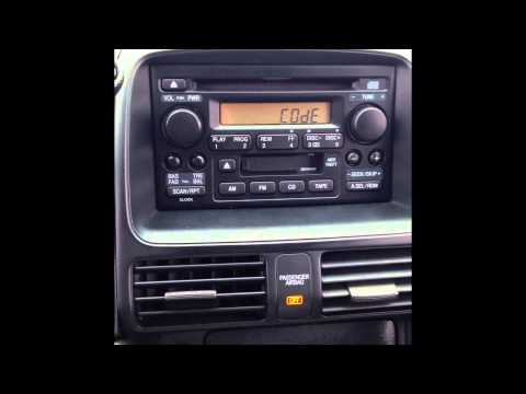 Stereo Reset Code For 2006 Honda CR-V  (LOCKED RADIO)