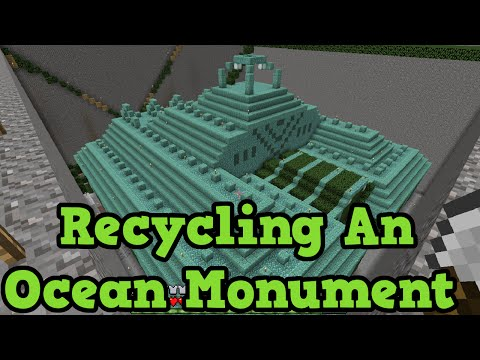 Minecraft Xbox 360 / PS3 - Ocean Monument DRAINING