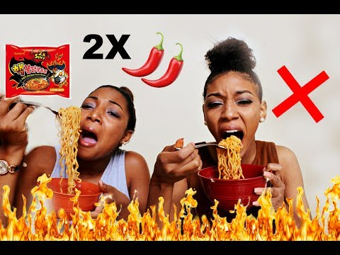 EXTREME 2X SPICY NUCLEAR RAMEN NOODLE CHALLENGE (DO NOT TRY)