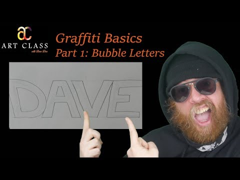 How to Draw Graffiti: Lesson 01 (bubble letters) - Art Class with Dave Dees
