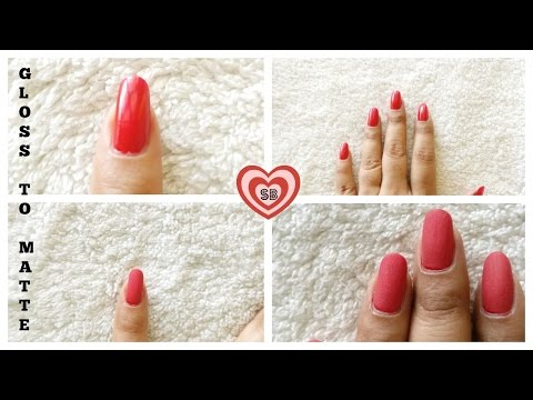 DIY: How To Make Matte Nail Paint Using Corn Starch | Right Technique |  In 10 Sec