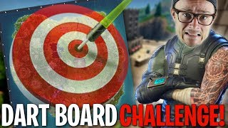 USING A REAL LIFE FORTNITE DART BOARD TO WIN!! Fortnite Challenge