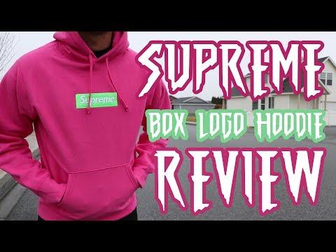 Supreme Box Logo Hoodie FW17 Review + On Body (Magenta/Pink/Watermelon)