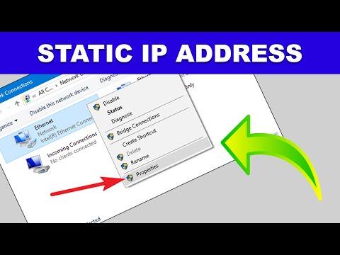 Windows 10 - How to change to static ip address