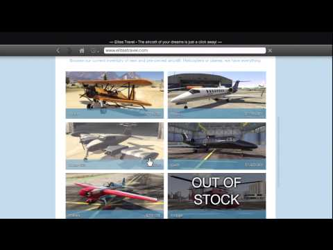 GTA 5 How To Buy - Planes, Boats, Armed Helicopters & Nice Cars