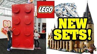 LEGO SNEAK PEAK!!! New Sets for 2018! Harry Potter, Star Wars, Ninjago, Jurassic World at TOY FAIR
