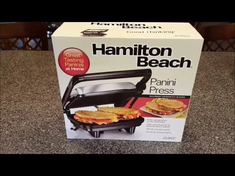 Hamilton Beach Panini Press Unboxing & Review