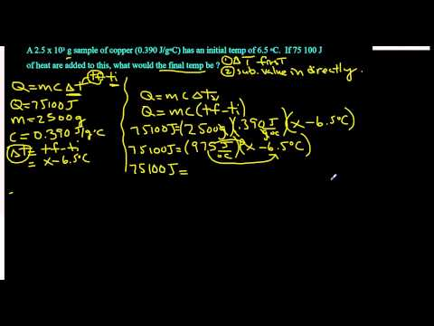 Solving for temperature final in the Heat equation : Q=mc∆t