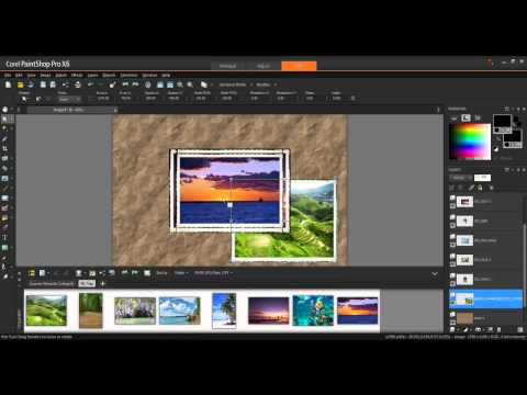 Creating a Photo Collage in Corel PaintShop Pro X6