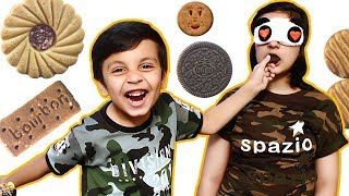 GUESS THE BISCUIT CHALLENGE | #Funny Blindfold Eating Challenge | Aayu and Pihu Show